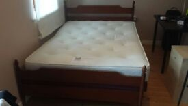 Double bed and mattress £150