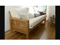 Brand new Futon company 3 seater sofabed Oke in oak