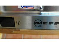 Neff electric double oven, Neff 60 cm gas hob and Neff dishwasher - silver