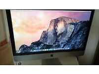 "Apple iMac 27"" Unused Boxes Fully working small chip on right corner A1419 late 2014 Retina display"