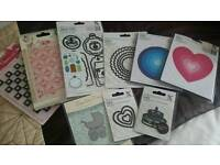 Selection of Xcut large and small dies and 2 embossing folders - Excellent for card making