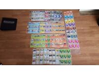 Over a 1000 pokemon cards no duplicates with folder and skins over 100 shineys with super rares