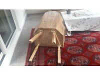 Pine lambing chair