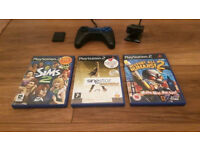 Playstation 2 Controller with Games & Accessories