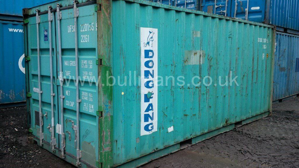 20ft shipping container - B Grade - CSC plated, steel container, storage container, site container