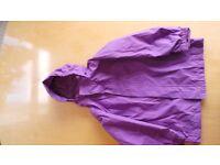 Regatta Purple waterproof coat. Age 5-6.