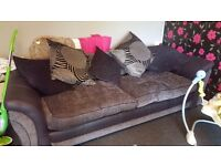 4 seater sofa and cuddle chair with mp3/ iphone player