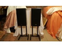 Pair of Technics SB-CS 75 speakers with stands (Collection only)