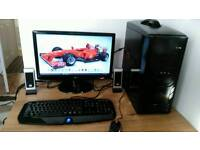 """Intel Core i5 desktop PC/mid range gaming with 20""""LGmonitor, gaming keyboard,mouse,speakers for sale"""
