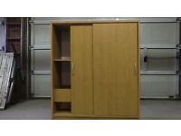 "Storage/Filing Cabinet in Beech Veneer. h 44"" w37"" d15.5"". With suspension file capacity. V G C."