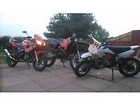 110cc Pit Bike and Spares/Repairs Aprilla MX50 *BARGAIN!!!* 110, 50, not 125, 250, 400, 600 cc etc