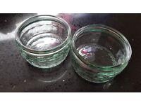 31 small clear (Gü) ramekins in clean condition