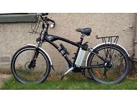 """FreeGo 'Hawk' electrical bicycle/Bike 18"""" frame Black 36v 10Ah"""