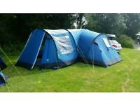 Royal brisbane 6 man tent with side extention as new