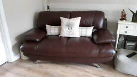 Harvey's 2x2 leather sofas