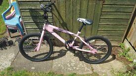 Pink girls BMX bike