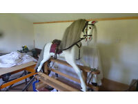 New traditionally carved rocking horse