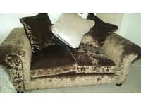 2 x 2 seater crushed velvet Laurence Llewelyn-Bowen Scarpa 2-Seater