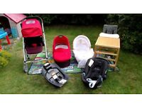 Urbo stroller and many accessories