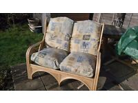 Cane Furniture 1 x Two Seater 2 x Single Seaters