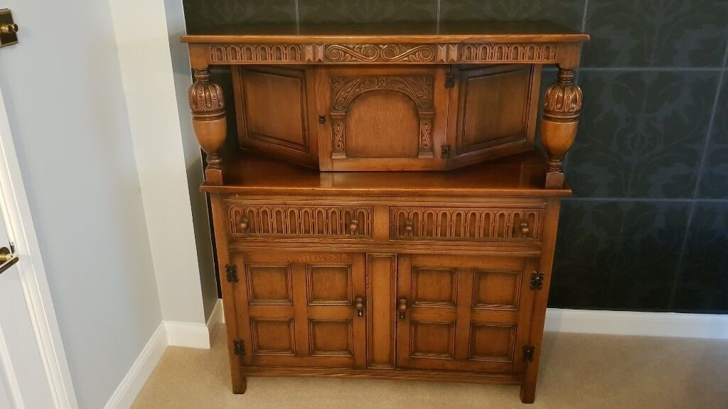 Oak cupboard sideboard in 17th century style mid 20th century in Basingstoke, Hampshire