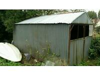 Galvanised shed