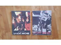 Bon Jovi Music Books - 5Pounds for both - As new - Gift and never used