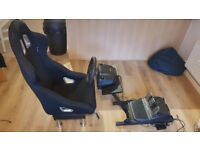 Logitech g29 sterring wheel with stand and seat