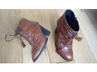 Leather ankle boots, size 37, Jones, stylish for Spring/ Summer