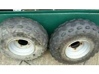 Quad bike wheels and tyres