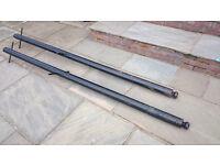 Decorative clothes line poles / Washing line posts x 2 (8ft long)