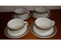 Coffee cups and saucers, large, set of 4, from Next