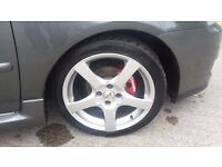 """17"""" OZ Racing Hydra alloys and tyres, came off an 06 Toyota Corolla £275"""