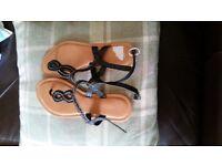 Brand new leather dressy/beach sandals 6