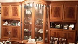 Solid wood wall unit in cherry wood