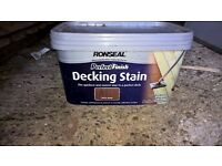 Ronseal 2.5L Perfect Finish Decking Stain with Deck Pad - Teak - NEW
