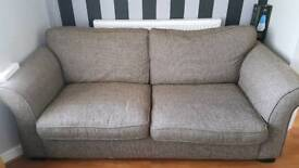 Sofa 2 seater brown