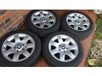 BMW Alloy Wheels with tyres 205/55/16