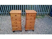 PINE CHEST OF DRAWERS 5 DRAWERS TALL