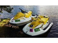 seadoo sea doo 2005 gti 3 seater and gsx 1999 both awsome skis twin trailer