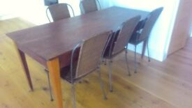 Beautiful dark wood antique dining table will easily seat 8. Quick sale needed due to downsizing.