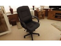 Leather Faced Office Swivel Chair