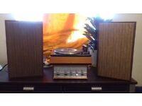 Garrard SP25 + Teleton amp in teak sleeve + Leak Sandwich speakers