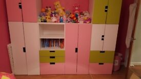 Childrens wardrobes and drawers unit