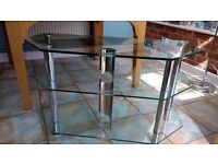 Glass Tv stand 3 tier