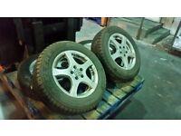 Winter tyres with Volkswagen alloys