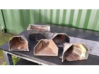 Cast Iron Hoppers x5 - condition as seen in photos