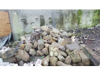 Over 10 tonne of used sandstone