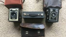 Vintage Brownie and Synchro cameras