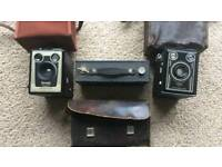 Vintage Brownie and Synchro cameras